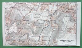 1913 MAP ORIGINAL Baedeker - FRANCE Clamart  Sc... - $4.21