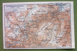 GERMANY Schwarzburg Blankenburg - 1904 MAP ORIG... - $4.63