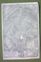 GERMANY Wilhelmshohe & Environs - 1904 MAP ORIG... - $4.63