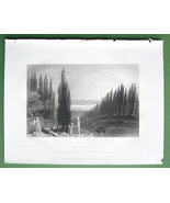 CONSTANTINOPLE Cemetery of Scutari Turkey - ca ... - $11.78