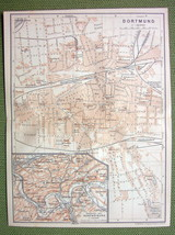 GERMANY Dortmund City Plan Railraods - 1904 MAP... - $5.94