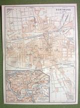 GERMANY Dortmund City Plan Railraods - 1904 MAP... - $5.94