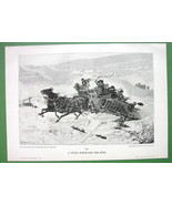 WINTER Joy Ride in Horse Cart - VICTORIAN Era A... - $12.61