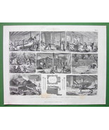 MINING Coke Production Kilns Ovens - 1870 Antiq... - $11.78