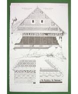 ARCHITECTURE PRINT !! GERMANY Hunter's Chalet a... - $28.61