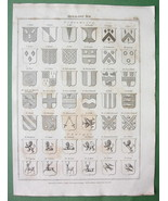 HERALDRY Shields Tinctures etc - (2)  Two 1822 ... - $15.15