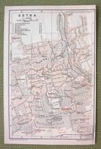 GERMANY Gotha City Town Plan - 1904 MAP ORIGINA... - $4.63