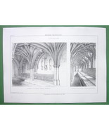 ARCHITECTURE PRINT : England Lavatories in Norw... - $18.51