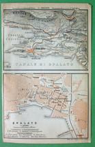 1900 MAP ORIGINAL Baedeker - Split Spalato in C... - $5.89