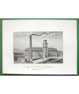 PAWTUCKET RI Goff & Sons Braid Plant !! SCARCE Antique Print Engraving - $15.15