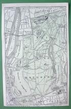 1913 MAP ORIGINAL Baedeker - FRANCE Paris Bois ... - $5.46