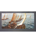 ITALIAN FISHERMEN Leaving for Sea Sailboats  - ... - $14.26