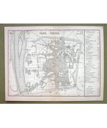 GERMANY Trier Treves - 1880 MAP ORIGINAL Baedek... - $8.41