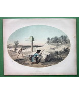 FOX Hunting Hunters Shooting - Tinted Antique P... - $12.20