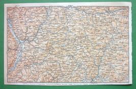 1911 MAP Original Baedeker - NORTH ITALY betw B... - $5.05