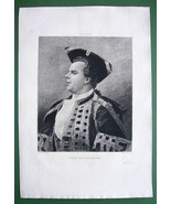 ORIGINAL ETCHING Print - Portrait of Coquelin A... - $28.61