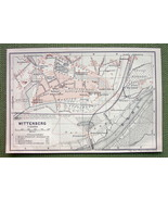 GERMANY Lutherstadt Wittenberg Plan - 1904 MAP ... - $5.89