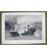 LOVE BOAT Young Lovers Cupid at Helm - VICTORIA... - $15.15