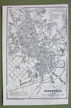 GERMANY Osnabruck City Plan - 1904 MAP ORIGINAL... - $4.63
