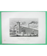 WORCESTER Massachusetts Earle Card Clothing Co - 1876 Original Engraving... - $21.00