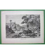 GUIANA Scenery with Waterfall South America - 1... - $15.15