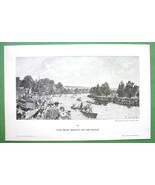 LONDON Regatta Race on Thames River England - V... - $15.15