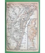 1900 MAP ORIGINAL Baedeker - Abbazia in Croatia - $5.89