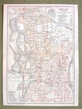 GERMANY Halle - 1904 MAP ORIGINAL Baedeker City... - $5.88