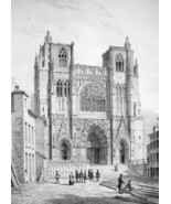 ARCHITECTURE PRINT : France St. Maurice at Vienne - $28.61