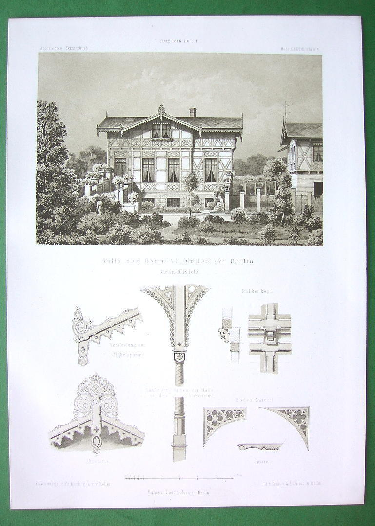 ARCHITECTURE PRINT : Germany Berlin Muller Family Villa facade & Details