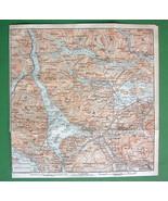 1906 Baedeker Map - SCOTLAND Trossachs National... - $4.20