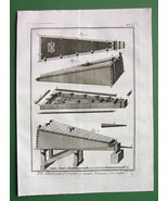 1784 ANTIQUE PRINT - IRON ORE Mining Blowpipe Chest Bellows - $5.05