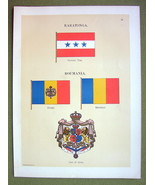FLAGS ROMANIA Raratonga Naval Marine Coat of Ar... - $12.20
