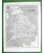ENGLAND - 1830 Original Map - $8.00