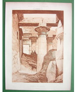 ARCHITECTURE PRINT: Egypt Karnak Temple of Khons - $28.61