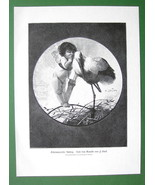 CUPID & Stork Secret Mission by Franz Stuck - V... - $15.15