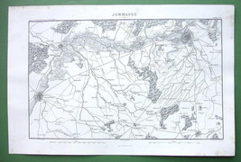 1846 ANTIQUE ORIGINAL MAP - BELGIUM Jemmapes & ... - $23.56