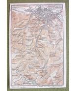 GERMANY Environs of Eisenach - 1904 MAP ORIGINA... - $4.63