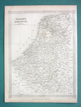 HOLLAND & Belgium - 1841 Original Map - $8.00