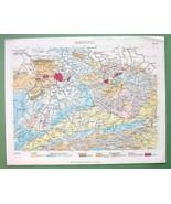 BOTANICAL COLOR PRINT: Geology Geological Map o... - $8.00