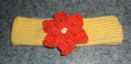 Brand New Crocheted Yellow Flower Design Dog Collar LARGE For Dog Rescue Charity - $9.99