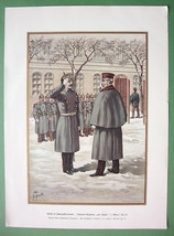 GERMAN ARMY Colonel von Lutzow Regiment - SUPERB Color Litho Print - $17.42