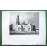 RICHMOND Virginia Episcopal Monumental Church- Antique Print Engraving - $8.00