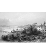 CANADA View of Windsor - BARTLETT Engraving Ant... - $11.78