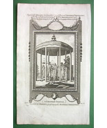 JAPAN Japanese Marriage in Temple - 1783 Copperplate Print - $20.20