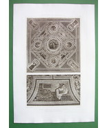 ITALY Ceiling in Church S. Maria du Peuple - D' ESPOUY Antique Print - $16.41