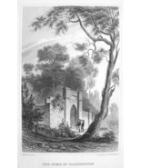G. WASHINGTON TOMB at Mount Vernon Virginia - Antique Print Engraving - $8.00
