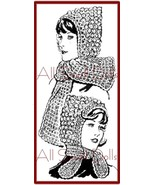 Vintage Pattern for Crocheted Hoods with Tie or Scarf - $5.99
