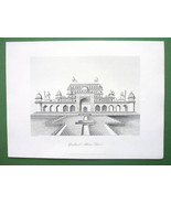 INDIA Tomb of Akhbar Shah at Secundra - Antique... - $15.15