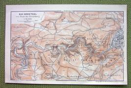 GERMANY Bodetal Thale & Environs - 1904 MAP ORI... - $4.63